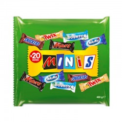 085 - MINIS-Snickers,Mars,Twix, Bounty,Milky way 400g